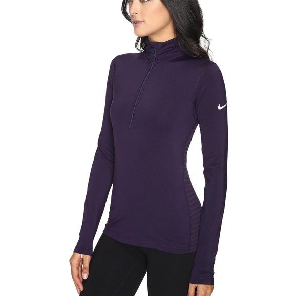 Nike Tops - Nike Half Zip Warm Pullover Top w/ Thumb Holes